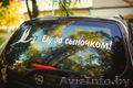Наклейки на автомобиль на выписку из Роддома в Пинске